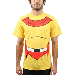 Mighty Mouse - Mens Man or Mouse T-Shirt in Yellow