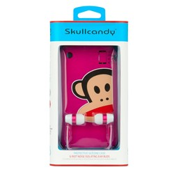 Riot Paul Frank Bundle In Ear Buds in Pink White by SkullCandy