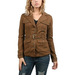 Affliction Black Premium - Womens Knox Jacket In Camel Brown