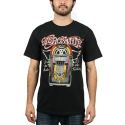 Aerosmith - Mens Let The Music Jukebox T-Shirt in Black