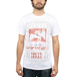 Led Zeppelin - Mens Tokyo 71 30 Single T-Shirt in White