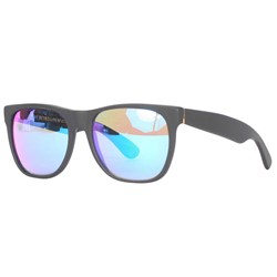 Super Sunglasses - Basic Wayfarer Black With Rainbow Lens