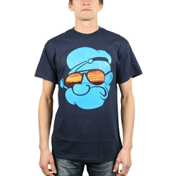 Popeye - Mens Big Face T-Shirt in Navy