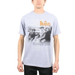 The Beatles - Mens Rubber Soul Mens T T-Shirt In Heather