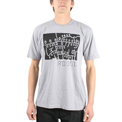 Radiohead - Mens Street Map T-Shirt in Grey