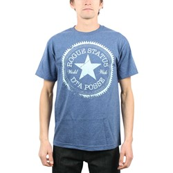 Rogue Status/DTA - Star Mens T-Shirt in Denim Heather/White