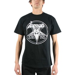 Venom - Mens In League With Satan T-shirt in Black