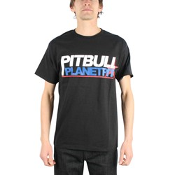 Pitbull - Planet Pit Mens T-Shirt in Black