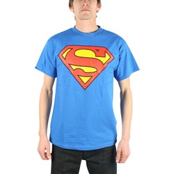 Superman Classic Logo Adult / Guys T-shirt in Royal Blue (TL259)
