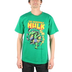 The Incredible Hulk Smash! Adult T-Shirt In Kelly Green