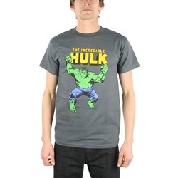 Marvel - The Incredible Hulk Adult S/S T-Shirt in Charcoal