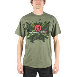 Gears Of War - Lancers Mens T-Shirt In Military Green
