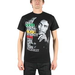 Bob Marley - Good Music Hits Adult T-Shirt in Black