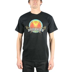Journey - Retro Scarab Discharge Base Adult T-Shirt in Black