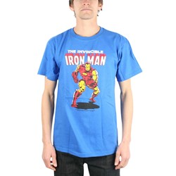 Iron Man - Invincible Adult S/S T-Shirt in Royal