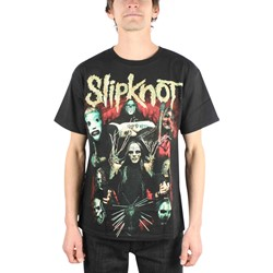 Slipknot Come Play Dying Adult S/S T-Shirt In Black