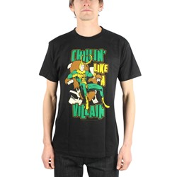 Loki Chillin' Like A Villain Mens T-Shirt In Black