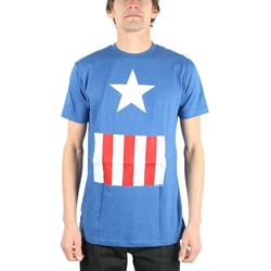 Captain America - Suit Fitted Jersey S/S T-Shirt in Royal
