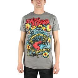 Asking Alexandria - Mens Eyeball Monster Slim Fit T-shirt in Charcoal