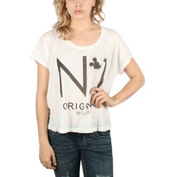 Mighty Fine - Womens Original Mouse T-Shirt In Linen