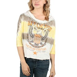 Affliction - Womens Tough Love Top In Yellow