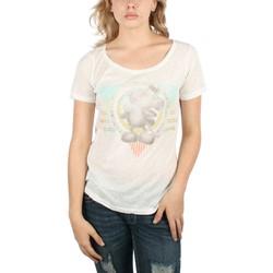 Mighty Fine - Womens Mickey Rainbow Crew T-Shirt In Linen