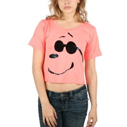 Mighty Fine - Womens Joe Cool Shades T-Shirt In Neon Sherbet