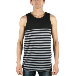 Rogue Status/DTA - Mens Squad Tank Top in Black/Charcoal Heather