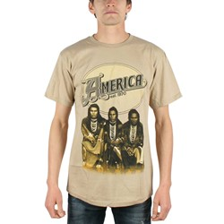 America - Logo Mens T-Shirt In Tan