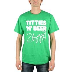 Frank Zappa - Titties & Beer Mens T-Shirt In Kelly
