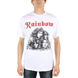 Rainbow - Mens Long Live Rock'n'Roll T-shirt in White