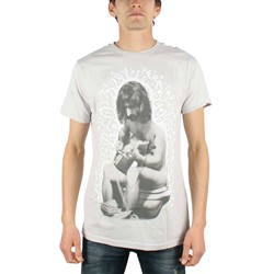 Frank Zappa - Mens On The Pot  T-shirt in Silver