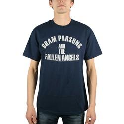 Gram Parsons - Fallen Angels Mens T-Shirt In Navy
