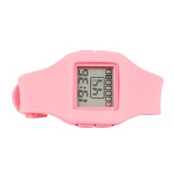 Impress Digital Silicon Band Watch in Pink