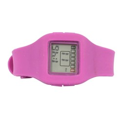 Impress Digital Silicon Band Watch in Purple
