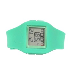 Impress Digital Silicon Band Watch in Green