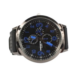 Impress LA12 Silicon Band Watch in Black/Blue
