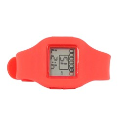 Impress Digital Silicon Band Watch in Red