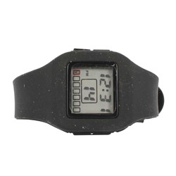 Impress Digital Silicon Band Watch in Black
