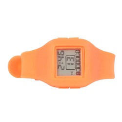 Impress Digital Silicon Band Watch in Orange