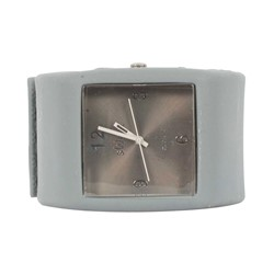 Sweet Square Rocker Silicon Band Watch in Grey