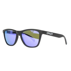 Oakley - Mens Frogskins Matte Black w/ Violet Iridium Sunglasses