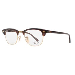 Ray-Ban - Unisex Clubmaster Optical Frames In Red Havana