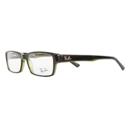 Ray-Ban - Mens Acetate Optical Frames in Havana/Crystal Lime