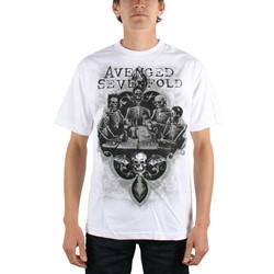 Avenged Sevenfold - Bottoms Up Mens T-Shirt In White
