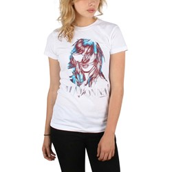 Madonna - Womens Tissue Graphic T-Shirt in White