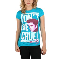 Elvis Presley - Don't Be Cruel Womens T-Shirt in Tourquoise