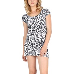 Tripp NYC Tunic Dress in White/Black/Zebra