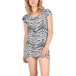 Tripp NYC Tunic Dress in White/Black/Zebra