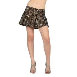 Tripp NYC Zipper Skirt in Leopard